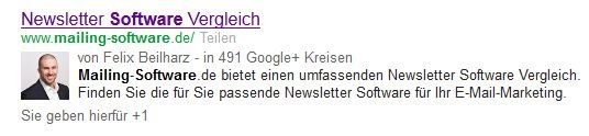 Rich Snippet mit Authorship-Verknüpfung